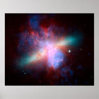Galáxia de Starburst Posters