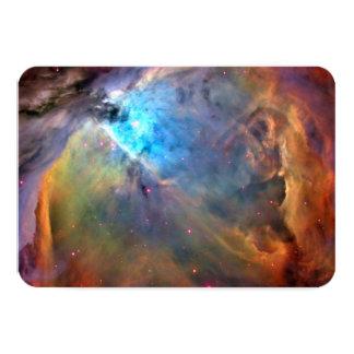 Galáxia do espaço da nebulosa de Orion Convite 8.89 X 12.7cm