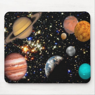 Galáxia dos planetas do espaço mouse pad