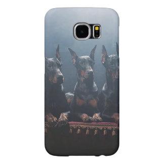 Galáxia S6 de Samsung do Doberman, mal lá Capas Samsung Galaxy S6