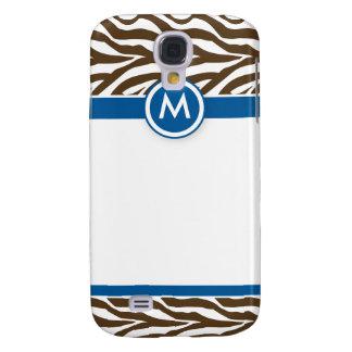 Galaxy S4 Case 3 azuis/chocolates Funky da zebra