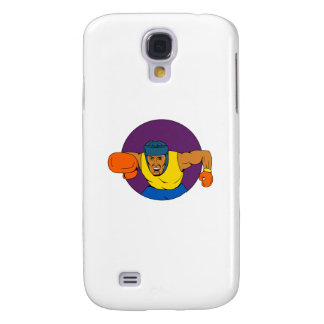 Galaxy S4 Case Desenho de perfuração do círculo do pugilista