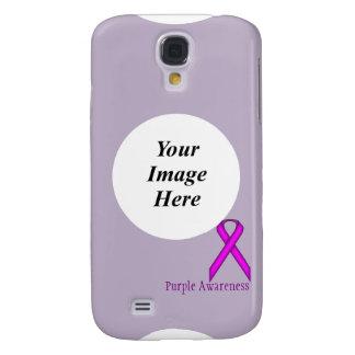 Galaxy S4 Case Fita padrão roxa por Kenneth Yoncich