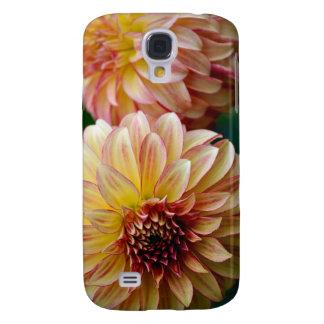 Galaxy S4 Case Impressão bonito da flor da dália