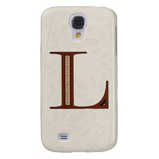 Galaxy S4 Case Letra L do damasco - vermelho