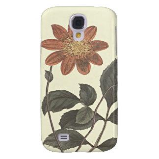 Galaxy S4 Case O escarlate floresceu a ilustração botânica da