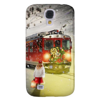 Galaxy S4 Case O papai noel expresso do Pólo Norte - trem do
