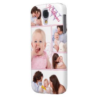 Galaxy S4 Cases Colagem Monogrammed cor-de-rosa feminino de 5
