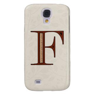 Galaxy S4 Cases Letra F do damasco - vermelho