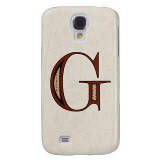 Galaxy S4 Cases Letra G do damasco - vermelho