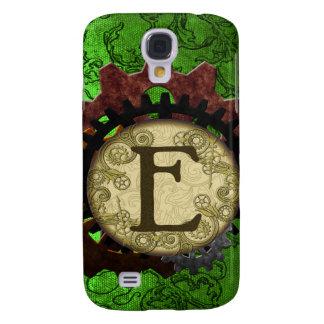 Galaxy S4 Cases O Grunge Steampunk alinha a letra E do monograma