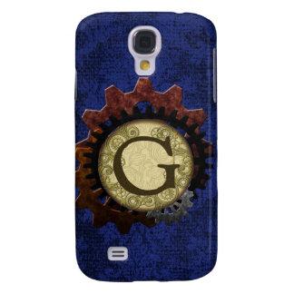 Galaxy S4 Cases O Grunge Steampunk alinha a letra G do monograma