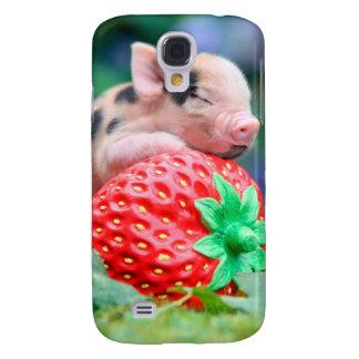 Galaxy S4 Cases porco da morango
