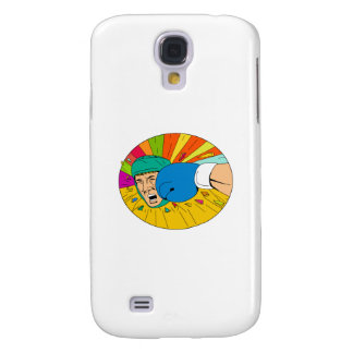 Galaxy S4 Cases Pugilista amador batido pelo desenho oval do