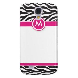 Galaxy S4 Cover 3 rosa/pretos Funky da zebra