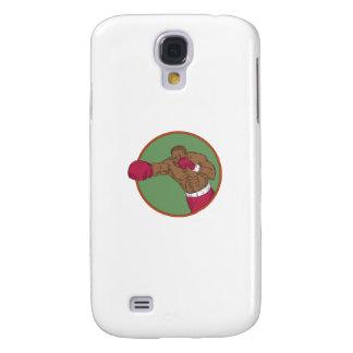 Galaxy S4 Cover Desenho do círculo do gancho direito do pugilista