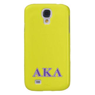 Galaxy S4 Cover Kappa alfa letras brancas e roxas do Lambda