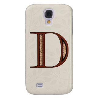 Galaxy S4 Cover Letra D do damasco - vermelho