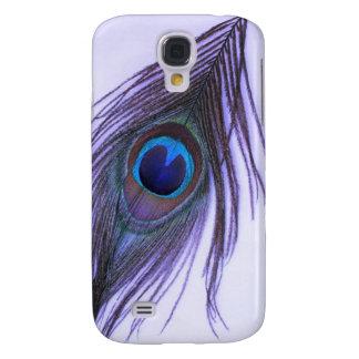 Galaxy S4 Cover Pena roxa do pavão