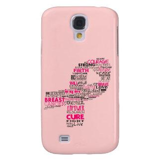 Galaxy S4 Covers Fita inspirada da consciência do cancro da mama