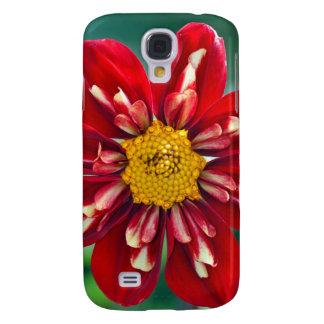 Galaxy S4 Covers Impressão vermelho bonito da dália