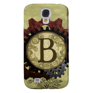 Galaxy S4 Covers O Grunge Steampunk alinha a letra B do monograma