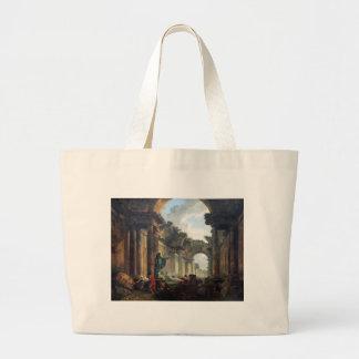 Galeria grande do Louvre nas ruínas - 1796 Bolsa Para Compras