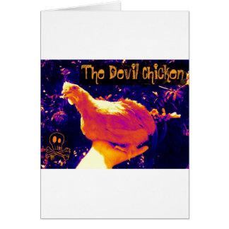 Galinha do diabo cartão comemorativo