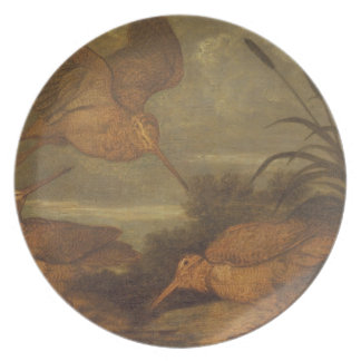 Galinhola no crepúsculo, c.1676 (óleo em canvas) prato de festa