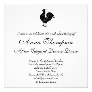 Galo do vintage convites personalizados