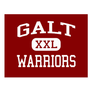 Galt - guerreiros - segundo grau - Galt Califórnia Cartão Postal