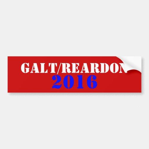 Galt Reardon 2016 Adesivos