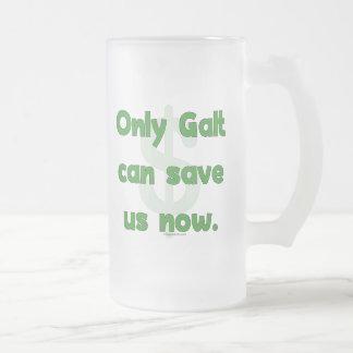 Galt salvar nos caneca de vidro fosco