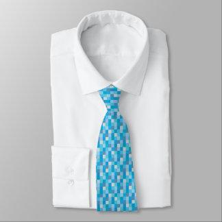 Gamer azul do teste padrão | de Pixelated Gravata