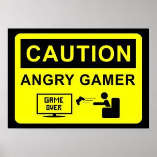 Gamer engraçado poster