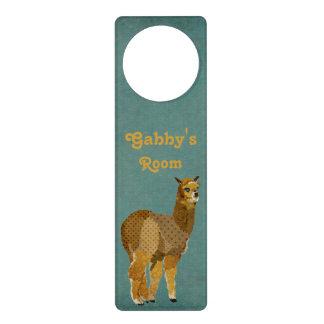 Gancho de porta da alpaca do ouro sinal para porta