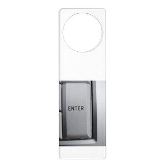 Gancho de porta da chave de computador sinal de porta