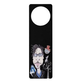 Gancho de porta gótico escuro da caricatura dos sinal de porta