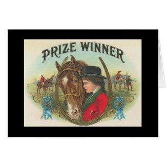 Ganhador do prémio Congrats em sua vitória Cartão