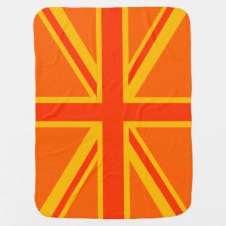 Ganhos britânicos alaranjados felizes da bandeira cobertor para bebe