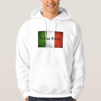 Ganhos italianos moleton com capuz