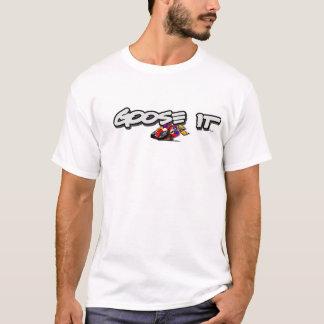 Ganso ele t-shirt das corridas de automóveis