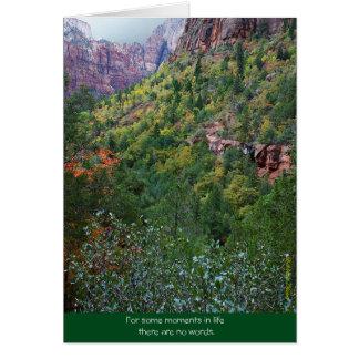 Garganta de Zion: Falecimento Cartão Comemorativo
