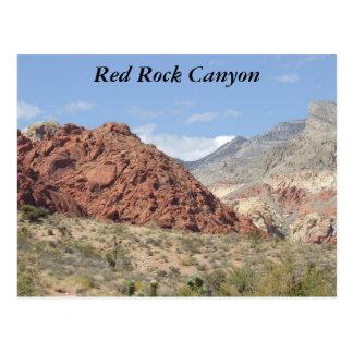 Garganta vermelha da rocha, deserto de Mojave, Cartão Postal