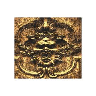 Gárgula dourada impressão em tela