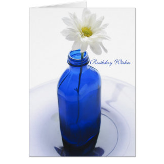 Garrafa antiga do cobalto, azul bonito da cartão comemorativo