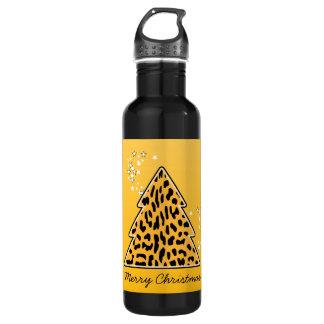 Garrafa D'água Árvore de Natal da chita do leopardo