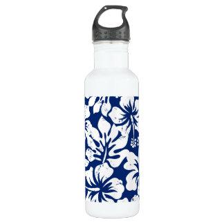 Garrafa D'água Hibiscus branco vestido tropical