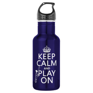 Garrafa D'água Mantenha a calma e o jogo em (Trombone) (alguma