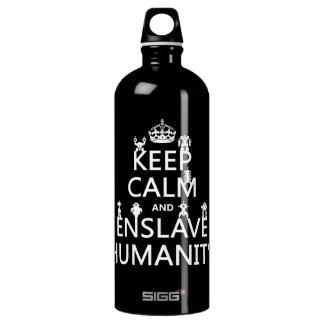 Garrafa D'água Mantenha calmo e subjugue a humanidade (os robôs)